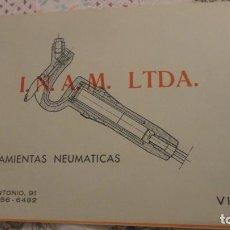 Catálogos publicitarios: ANTIGUO FOLLETO.PLANOS.INAM.LTDA HERRAMIENTAS NEUMATICAS.VIGO.1959. Lote 191347047