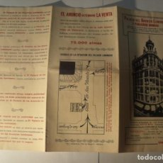 Catálogos publicitarios: VALENCIA, TRÍPTICO PUBLICITARIO 1930, PALACIO DEL ANUNCIO LUMINOSO, C/ SAN VICENTE. Lote 191356915