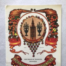 Catálogos publicitarios: CATÁLOGO DEL EXTINTO Y ANTIGUO HORNO DE SAN BUENAVENTURA, SEVILLA. Lote 191370335