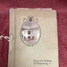 Catálogos publicitarios: ANTIGUO CATÁLOGO DECORACIÓN PAPEL PRINCIPIOS DEL SIGLO XX GEORGE PARSONS. Lote 191382226
