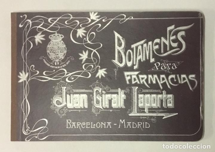 BOTAMENES PARA FARMACIAS. FÁBRICA DE CRISTAL JUAN GIRALT LAPORTA. PORCELANA Y CRISTAL DECORADO... (Coleccionismo - Catálogos Publicitarios)