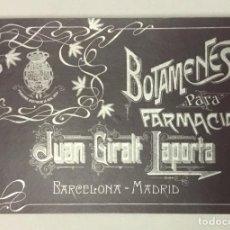 Catálogos publicitarios: BOTAMENES PARA FARMACIAS. FÁBRICA DE CRISTAL JUAN GIRALT LAPORTA. PORCELANA Y CRISTAL DECORADO.... Lote 191721946