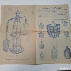 Catálogos publicitarios: CATÁLOGO PUBLICITARIO EXCLUSIVAS HISAM, BARCELONA. Lote 191936793