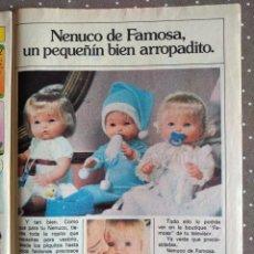 Catálogos publicitarios: ANTIGUA PUBLICIDAD MUÑECO NENUCO. Lote 192140396