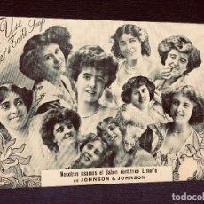 Catálogos publicitarios: TARJETA CARTEL JABÓN DENTRÍFICO LISTER´S DE JOHNSON & JOHNSON BARCELONA PASEO DE GRACIA 51. . Lote 192248367