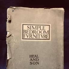 Catalogues publicitaires: CATALOGO PUBLICITARIO MUEBLES SIMPLE BEDROOM FURNITURE HEAL AND SON CAOBA ROBLE CASTAÑO LONDRES. Lote 192273851