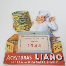 Catálogos publicitarios: CALENDARIO ACEITUNAS LIAÑO, SEVILLA DE 1944 MEDIDAS 19X15CMS. Lote 192467955