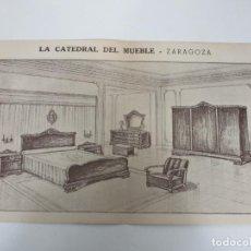 Catálogos publicitarios: ANTIGUO IMPRESO PUBLICITARIO - LA CATEDRAL DEL MUEBLE, ZARAGOZA - HABITACIÓN COMPLETA POR 3900 PTAS. Lote 192905745