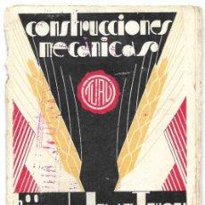 Catálogos publicitarios: CATÁLOGO CONSTRUCCIONES MECÁNICAS TURU, HIJO DE JUAN TURU AÑOS 30-40 MAQUINARIA REPOSTERÍA TARRASA. Lote 193355508