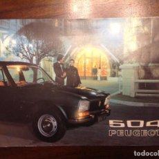 Catálogos publicitarios: CATALOGO COCHE PEUGEOT 504. Lote 193819703