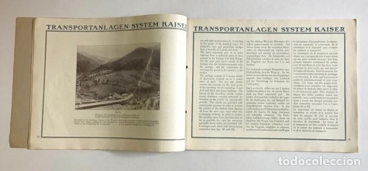 Catálogos publicitarios: TRANSPORTEURS AÉRIENS SUR CÂBLES. DRAHTSEILBAHNEN. WIRE ROPE RAILWAYS. - KAISER & CO. - Foto 3 - 123204754