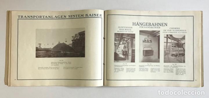 Catálogos publicitarios: TRANSPORTEURS AÉRIENS SUR CÂBLES. DRAHTSEILBAHNEN. WIRE ROPE RAILWAYS. - KAISER & CO. - Foto 4 - 123204754