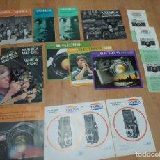 Catálogos publicitarios: LOTE DE 27 CATALOGOS FOTOGRAFICOS DE YASHICA. Lote 194212348