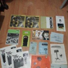 Catálogos publicitarios: LOTE 47 CATALOGOS DE FOTOGRAFIA: MECABLITZ, NERA, YASHICA, DURST, VALCA, VIVITAR .ETC. Lote 194213553