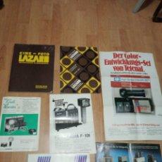 Catálogos publicitarios: LOTE DE 7 CATALOGOS DE FOTOGRAFIA/CINE LAZARO, DURST, NERA Y ACCESORIOS HANSA. Lote 194213992