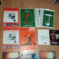 Catálogos publicitarios: LOTE DE 17 CATALOGOS DURST, METZ, BRAUN Y BASF. Lote 194214422