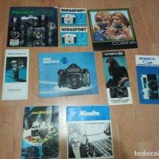 Catálogos publicitarios: LOTE DE 10 CATALOGOS COSINA, ASAHI PENTAZ, MINOLTA, KONICA Y FUJICA. Lote 194214688