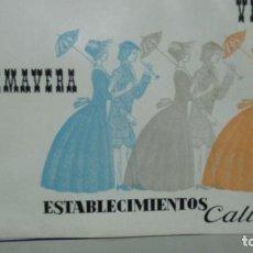 Catálogos publicitarios: ZARAGOZA. ESTABLECIMIENTOS CALIXTO. CATALOGO MODA PRIMAVERA VERANO AÑOS 60. Lote 194253485