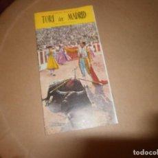Catálogos publicitarios: TORI IN MADRID -ITINERARI MADRILENI TESTO DI MANOLO CASTAÑETA - FOLLETO PUBLICITARIO AÑOS 70. Lote 194269323