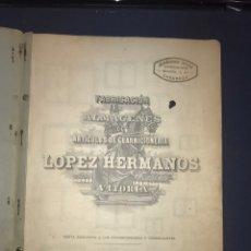 Catálogos publicitarios: 41 CROMOLITOGRAFÍAS GUARNICIONERIA. CATÁLOGO LOPEZ HERMANOS VITORIA.. Lote 194310801