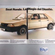 Catálogos publicitarios: CATALOGO DE SEAT RONDA. Lote 194316242