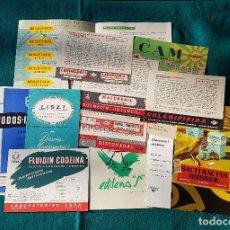 Catálogos publicitarios: LOTE DE CATALOGOS Y CARTELES DE FARMACIA. Lote 194338228