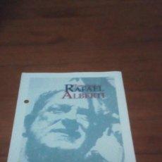 Catálogos publicitarios: PROGRAMA. HOMENAJE A RAFAEL ALBERTI. UNIVERSIDAD DE CADIZ C10CR. Lote 194360170