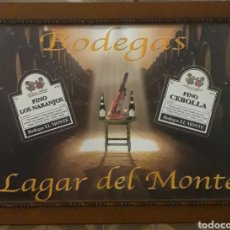 Catálogos publicitarios: CARTEL PUBLICITARIO BODEGAS LAGAR DEL MONTE. Lote 194394377