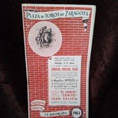 Catálogos publicitarios: PROGRAMA TOROS. ZARAGOZA.1963. 11PGS. NUEVO.. Lote 194502905