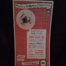 Catálogos publicitarios: PROGRAMA TOROS. ZARAGOZA. 1963. 11 PGS. NUEVO.. Lote 194506151