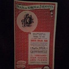 Catálogos publicitarios: PROGRAMA TOROS. ZARAGOZA. 1963. 11 PGS. NUEVO.. Lote 194507125