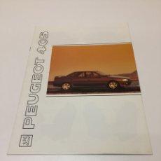Catálogos publicitarios: CATALOGO PEUGEOT 405. Lote 194513063