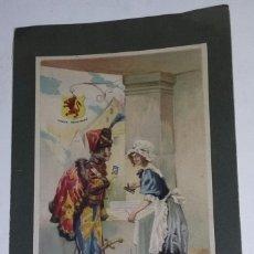 Catálogos publicitarios: ALMIDON BRILLANTE MARCA EL LEON. CONTIENE PARTITURA CANTO NACIONAL DE BUENOS AIRES.. Lote 194527733