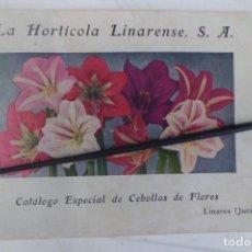 Catálogos publicitarios: CATALOGO DE FLORES, HORTICOLA LINARENSE, JAEN, AÑO 1.950. Lote 194538007