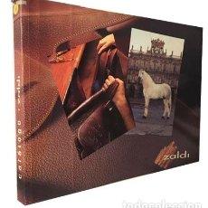 Catálogos publicitarios: ZALDI. CATÁLOGO. (CABALLOS : MONTURAS, BOCADOS, ESTRIBOS, MANTAS, ETC.) PIEL. MARROQUINERÍA . Lote 194543327