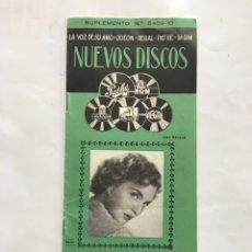 Catálogos publicitarios: LA VOZ DE SU AMO. ODEON. REGAL. PATHE. MGM. NUEVOS DISCOS. CATÁLOGO.. Lote 194553955