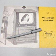 Catálogos publicitarios: CATÁLOGO DE TELEVISIÓN. THE ANDREA BREWSTER. . Lote 194619933
