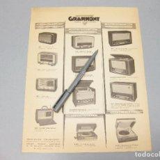 Catálogos publicitarios: CATÁLOGO DE TELEVISIÓN. GRAMMONT. RADIO TÉLÉVISION. PARIS.. Lote 194620181