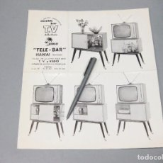 Catálogos publicitarios: CATÁLOGO DE MUEBLES PARA RADIO Y TELEVISIÓN. TELE-BAR HAWAI. . Lote 194621706