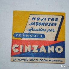 Catálogos publicitarios: CINZANO VERMOUTH , HOJITAS JABONOSAS .. Lote 194626453