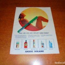 Catálogos publicitarios: PUBLICIDAD 1969: AMBRE SOLAIRE. Lote 194646451