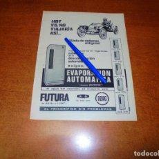 Catálogos publicitarios: PUBLICIDAD 1969: FRIGORÍFICO ODAG. Lote 194646522