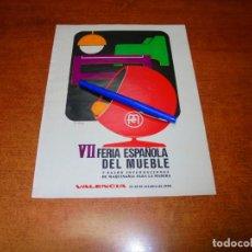 Catálogos publicitarios: PUBLICIDAD 1969: VII FERIA ESPAÑOLA DEL MUEBLE (VALENCIA). Lote 194646541