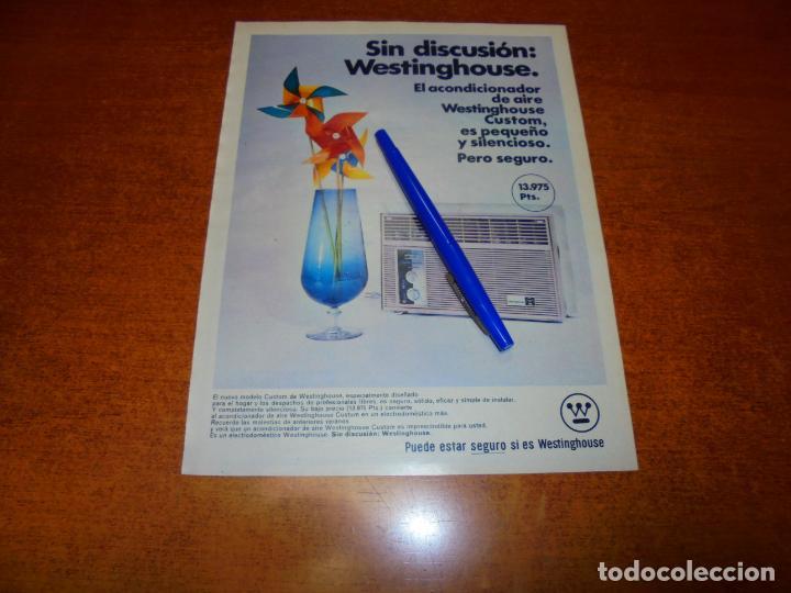 PUBLICIDAD 1969: ACONDICIONADOR DE AIRE WETINGHOUSE (Coleccionismo - Catálogos Publicitarios)