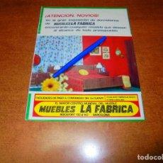 Catálogos publicitarios: PUBLICIDAD 1969: MUEBLES LA FÁBRICA. Lote 194646550