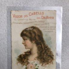 Catálogos publicitarios: PUBLICIDAD. EL VIGOR DEL CABELLO DEL DR.AYER. Lote 194724510