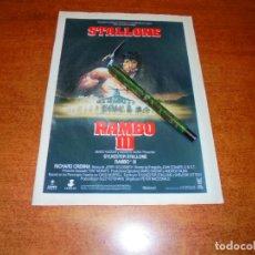 Catálogos publicitarios: PUBLICIDAD CINE 1988: RAMBO III - SILVESTER STALLONE. Lote 194742906