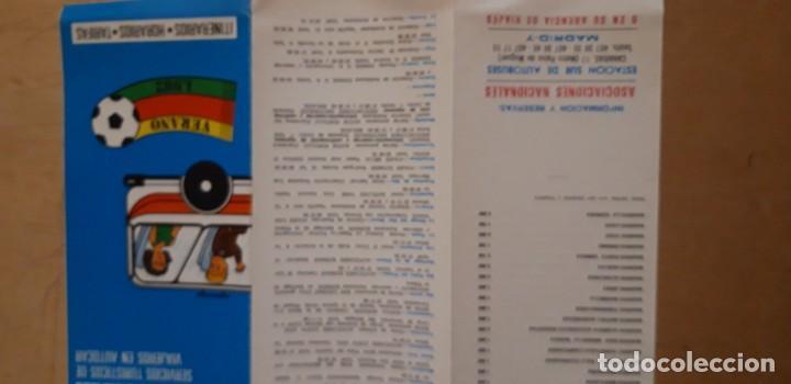 Catálogos publicitarios: 1 HORARIO DE ** ASOCIACION VIAJEROS EN AUTOCAR ** ESTACION SUR MADRID TRÍPTICO 1982 - Foto 2 - 194788693