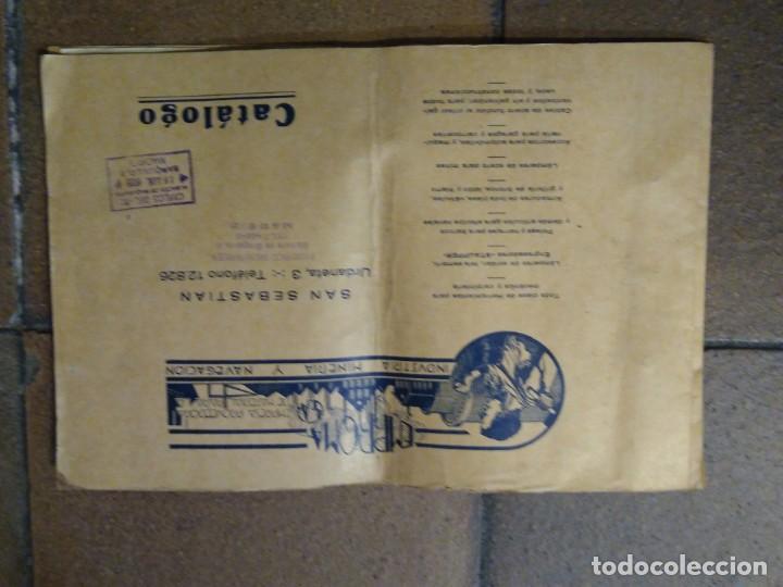 CATÁLOGO EMPROMA INDUSTRIA MINERA Y NAVEGACIÓN SAN SEBASTIÁN. (Coleccionismo - Catálogos Publicitarios)
