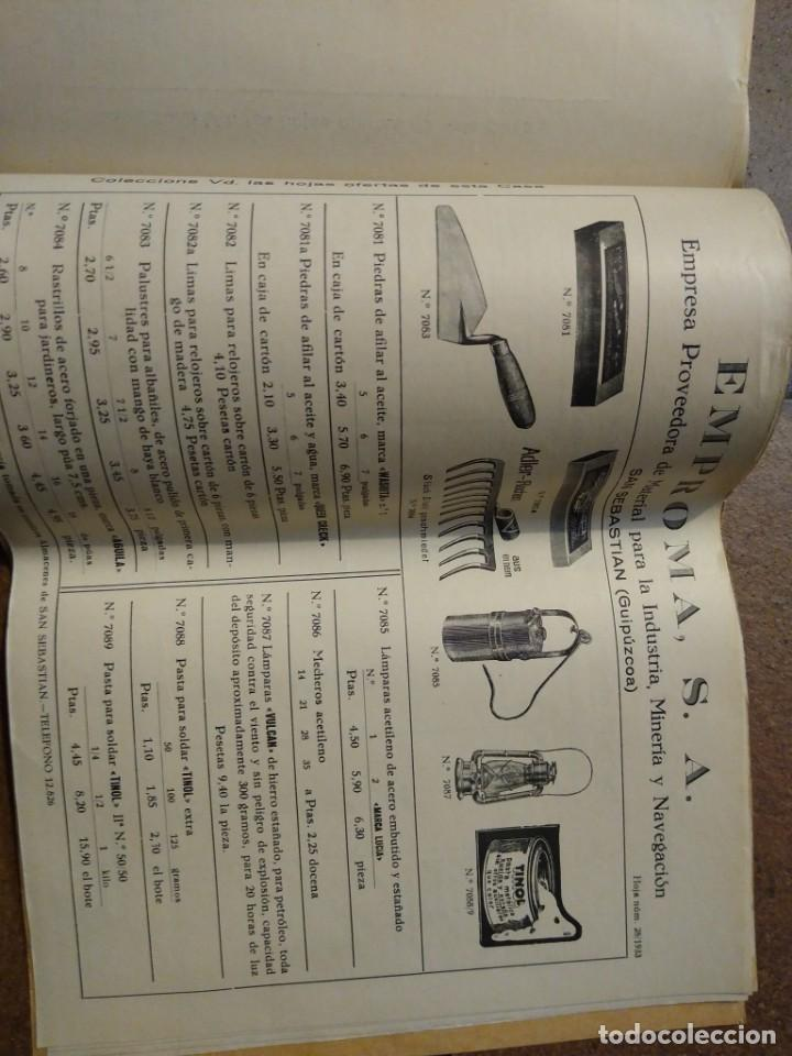 Catálogos publicitarios: Catálogo Emproma industria minera y navegación San Sebastián. - Foto 6 - 194872202